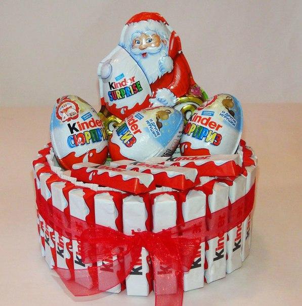 Торт из киндеров и киндер шоколада своими руками пошаговое фото