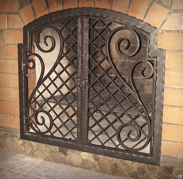 Кованная решетка для камина