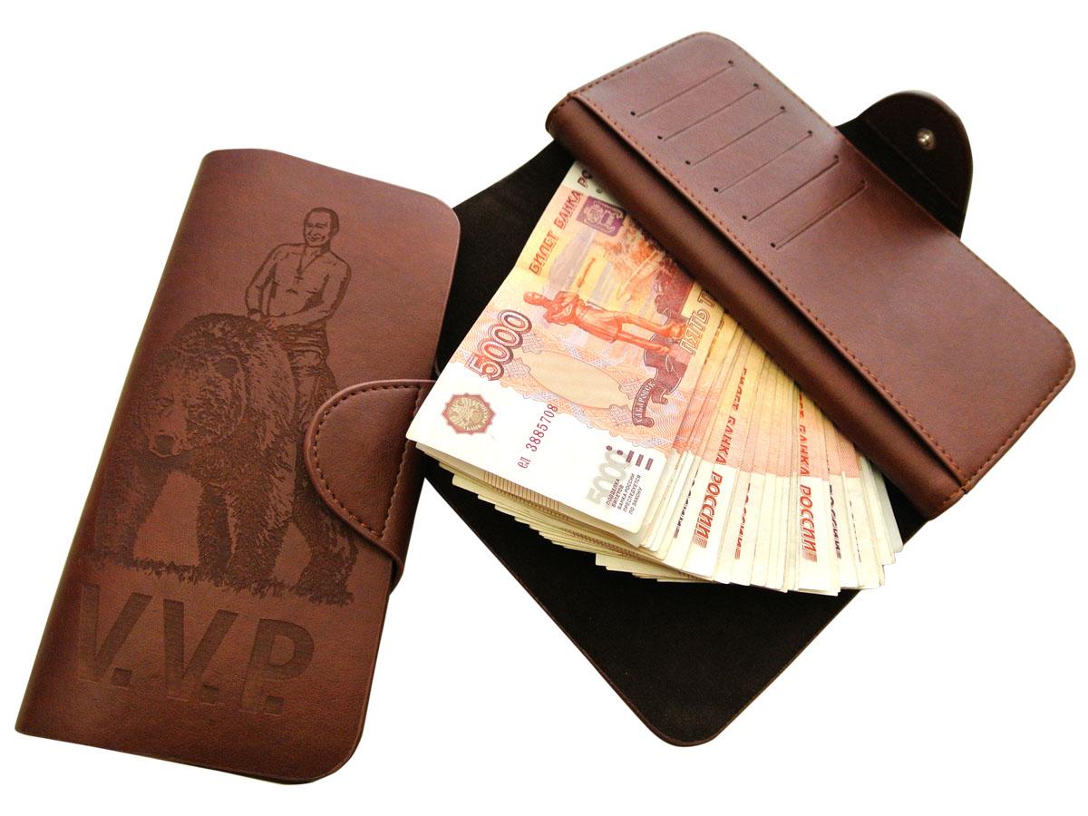 Купить Портмоне VVP. Кошелёк клатч с Путиным - ВВП
