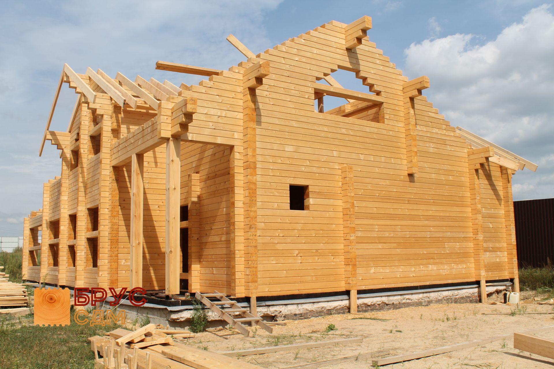 Строительство дома из бруса своими руками поэтапно фото